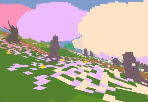 A picture of Spring blossom trees from Proteus