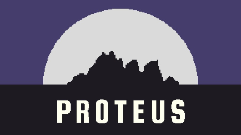 A picture of the start screen from Proteus.