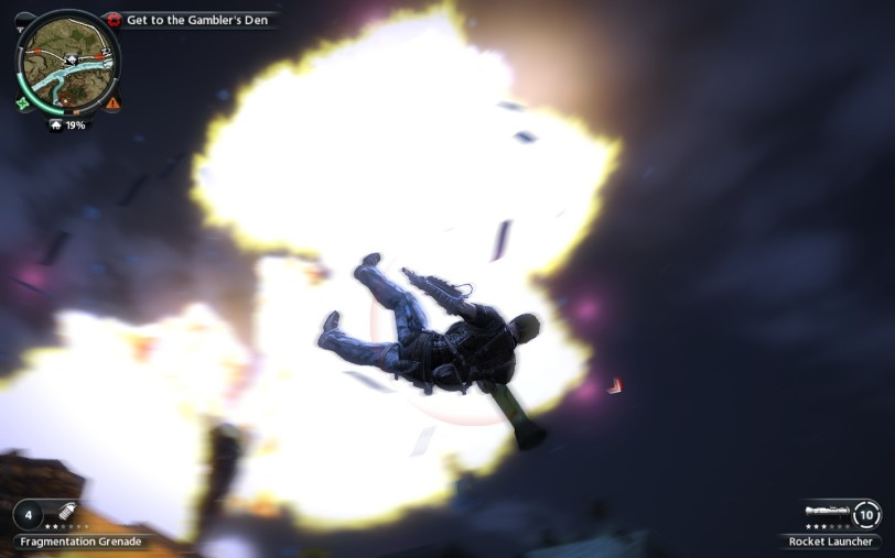 Nuclear explosion in Just Cause 2!